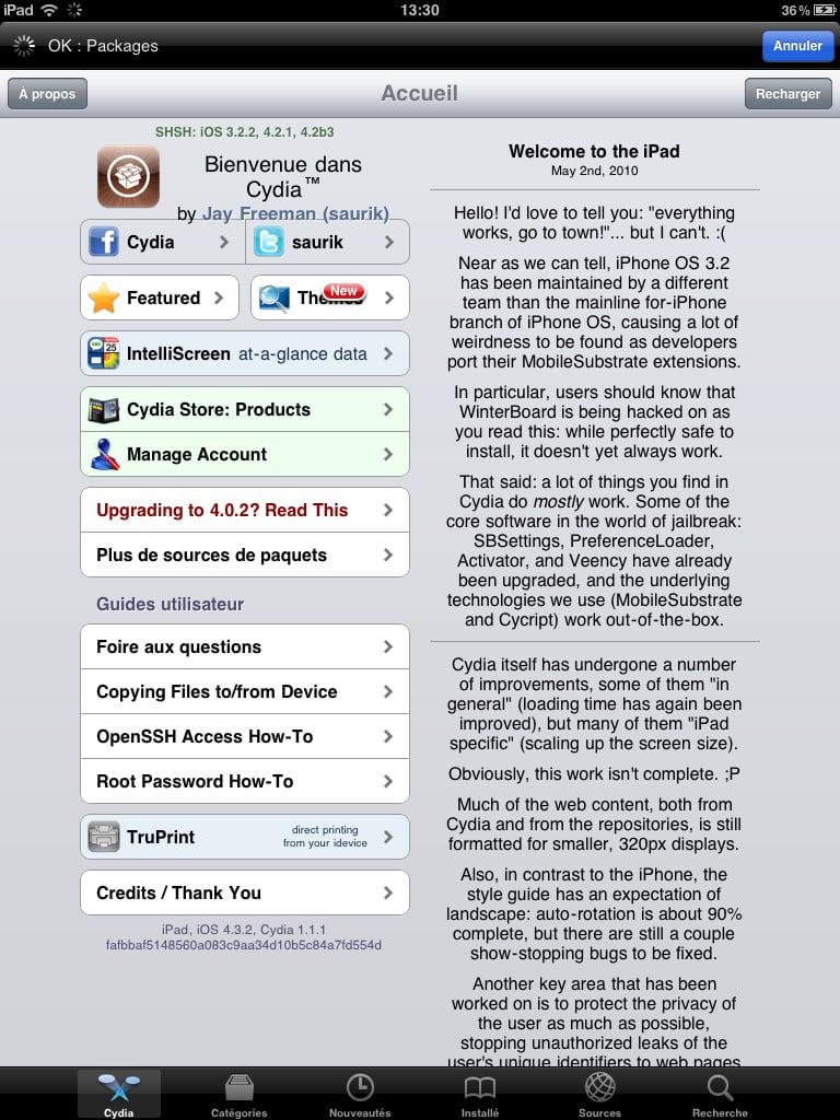 cydia sur iPad