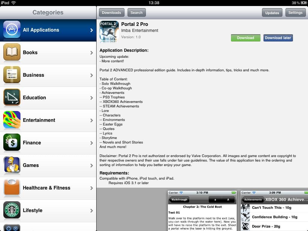 Installo.us sur iPad
