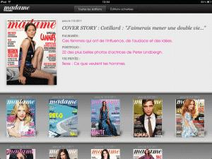 application iPad Madame Figaro