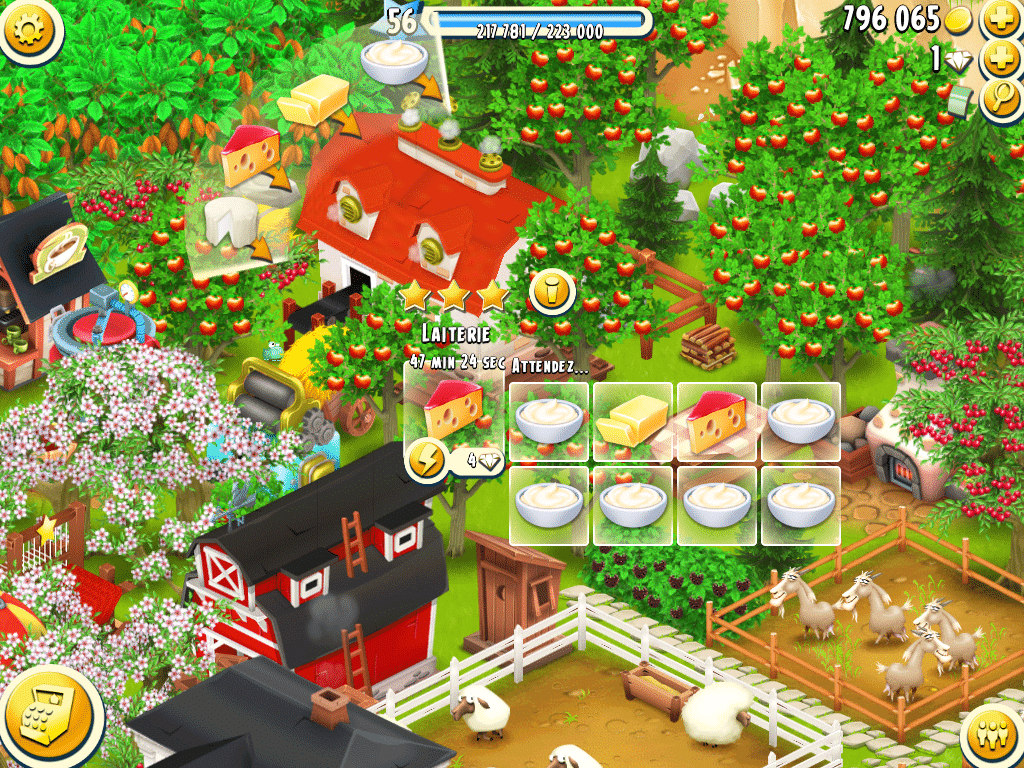 Hay Day – production laitière