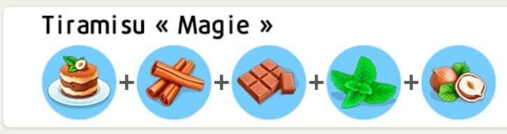 Recettes MyCafé tiramisu Magie