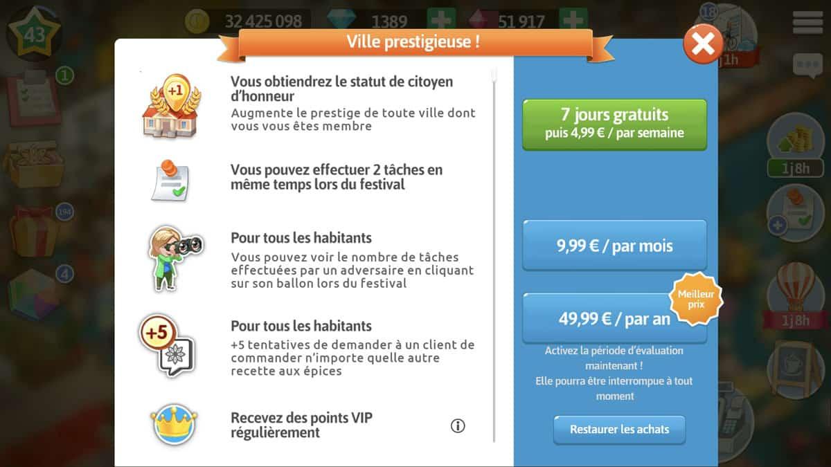 jeu mobile sur abonnement freemium