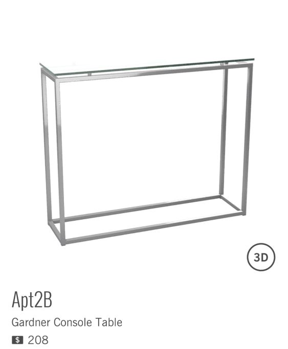 GARDNER CONSOLE TABLE de la marque APT2B est à $208